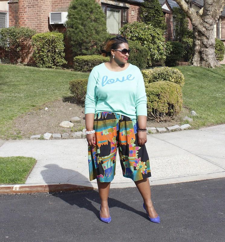 culotte print pants