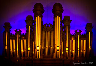 Image of Salt Lake Tabernacle. city music lake choir canon square temple eos rebel gold leaf colorful pipes salt organ mormon spencer lds tabernacle sud t3i bawden latterdaysaint spazoto