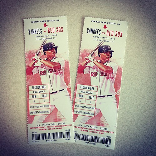 My 1st Red Sox - Yankees game ever. 😄 this Friday #redsox #yankeessuck
