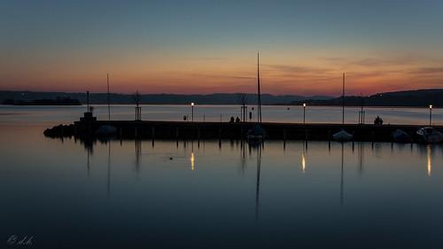 reflection switzerland evening pentax bluehour k3 zürichsee wetreflection lakeofzurich da2040limited limitedzoom