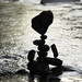 Silhouette of balanced rock by tsutomu k
