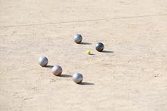 boules, lawn game, sand, sports, ball,