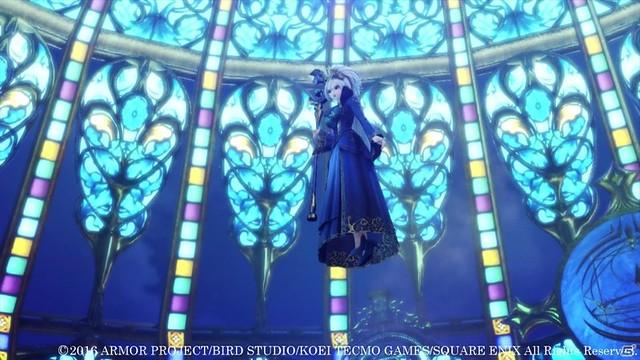 魔法の力で宙に浮くクレティア女王