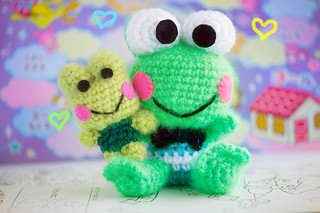 frog baby is happy