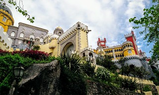 Image of Pena National Palace. travel travelling castle castles portugal architecture outside outdoors travels europe view exploring travellers sintra gothic royal travellings palace unesco adventure explore views castelo romantic pena traveling neogothic middleages turret royalty turrets travelers palaces travelblog portuguesa islamic palácio iberia neorenaissance travelphotography português penapalace penanationalpalace manueline palácionacionaldapena romanticist penacastle travelphotographer travelblogs travelblogger travelings travelbloggers neomanueline travelphotographers neoislamic travelblogging weekendwayfarers