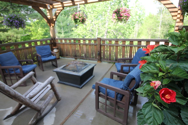 private deck with fire-pit