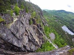 Look at this vista -- it was the reward after rock climbing style Via Fettara at Les Palissades de Charlevoix. From this experience, I re-found my love of rock climbing and slow adventures. Adventure travel - it had been one of the best ways to find mysel