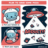 Jōkūkuma's plan to grab pizza
