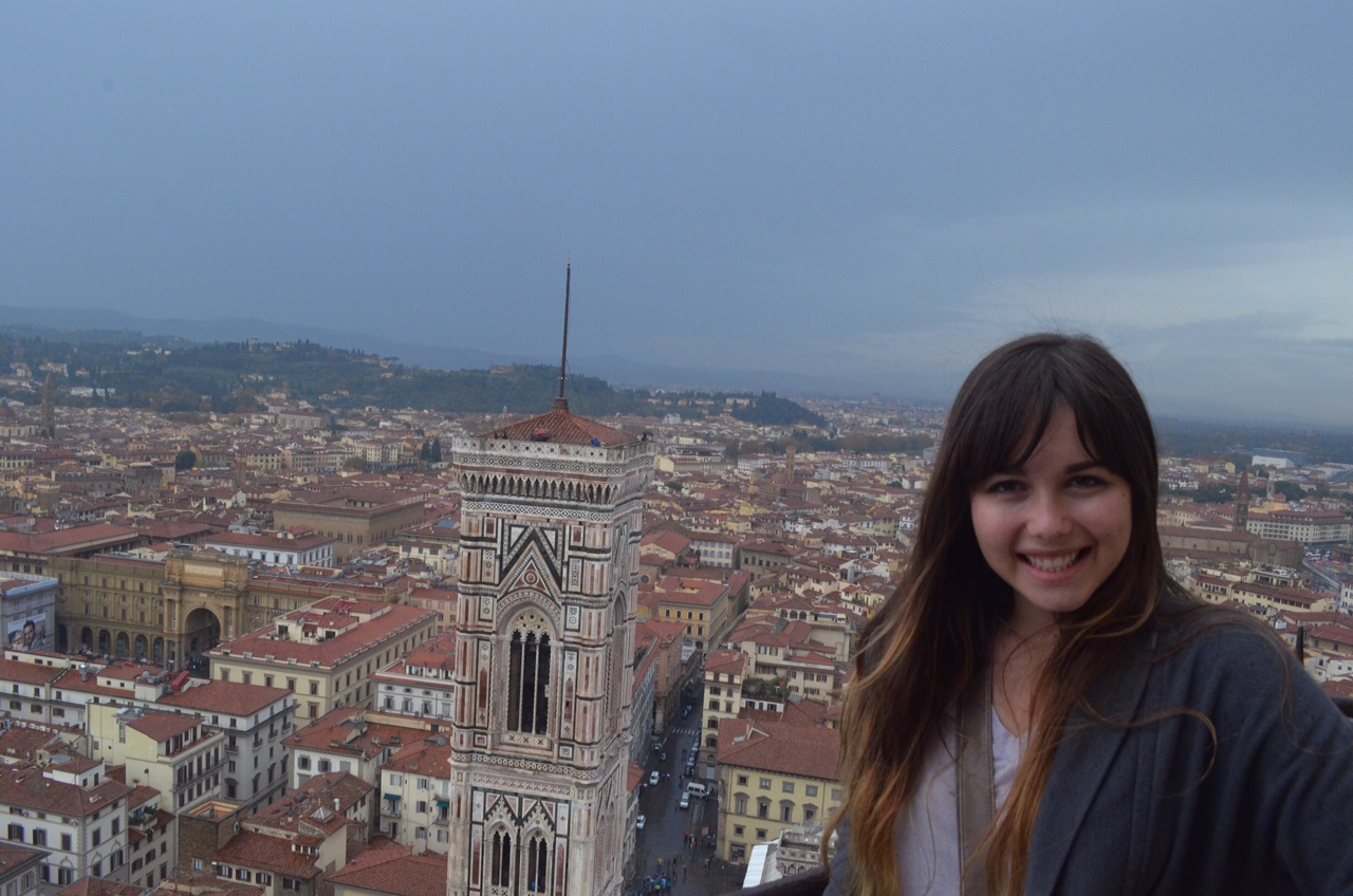 4 Madison Meyer at the top of the Duomo in Florence