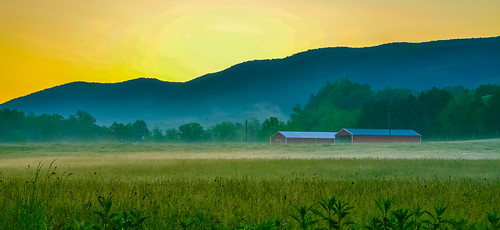 blue sunrise landscape virginia ridge shenandoah