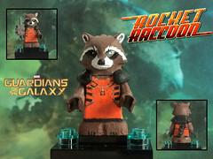 Lego Custom Painted Rocker Raccoon _ Guardians of the Galaxy