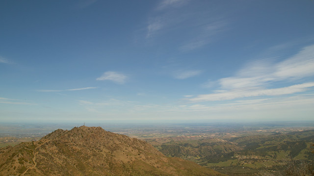 View towards the Central Valley from Mt Diablo