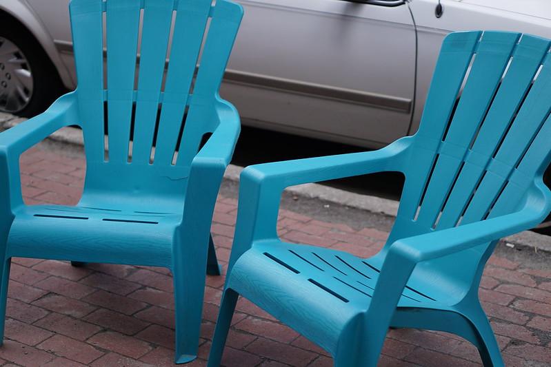 Sky Blue Chairs Beacon NY