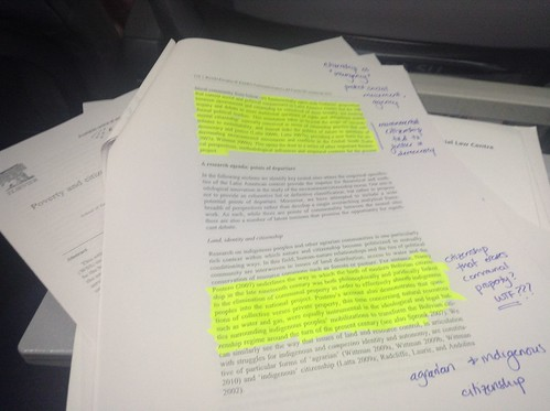 Reading academic papers while flying