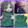 A dress for Violet! #bjds #pukifee #knitting so many tiny stitches!!