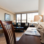 Any living room with ample space for work and relaxing has room for all of your needs.