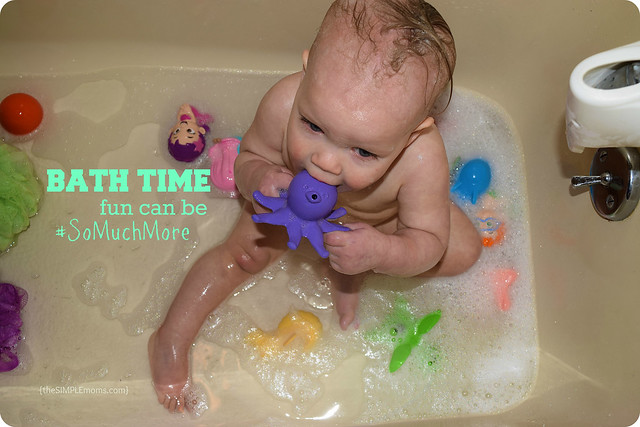 the progression of a bath with a 1-year old + mega hair styles with ...