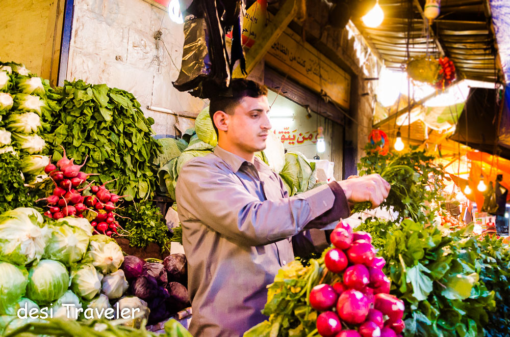 Vegetable market Amman downtown