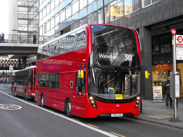 Abellio London 2400 YY64GXG on Route 381 in Waterloo