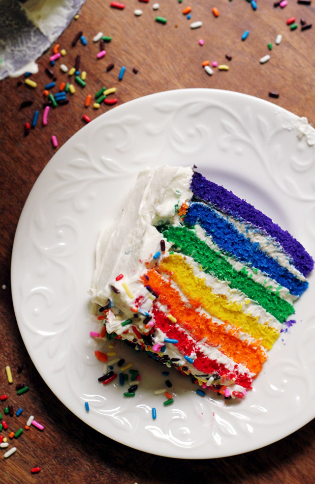 Rainbow Cake Joanne Eats Well With Others