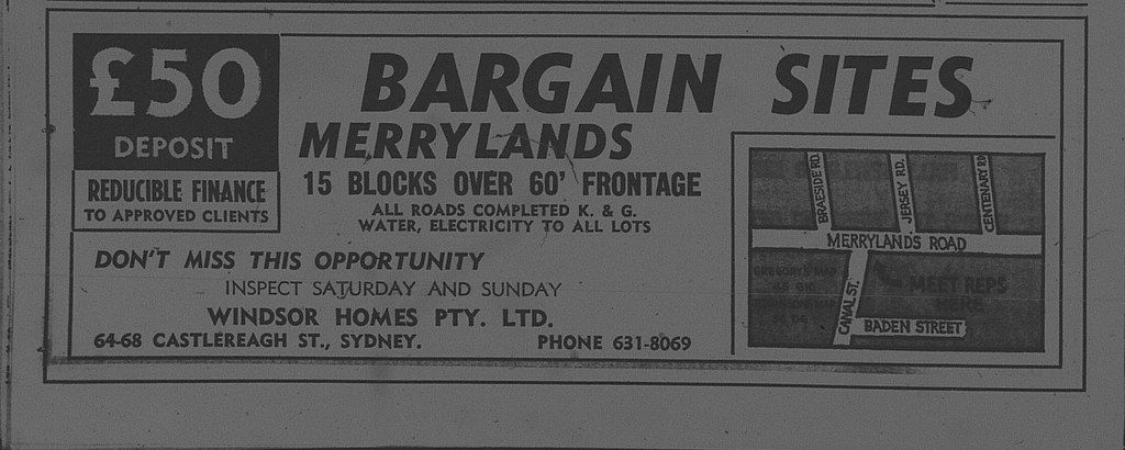 Merrylands Ad February 12 1966 daily telegraph 42