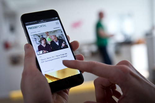 Mobile PR-Inhalte
