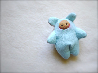Baby Blue/Gray BEAR: tan