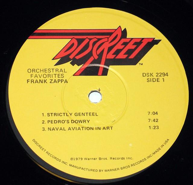 Frank Zappa Orchestral Favorites 12 Quot Lp Vinyl Records
