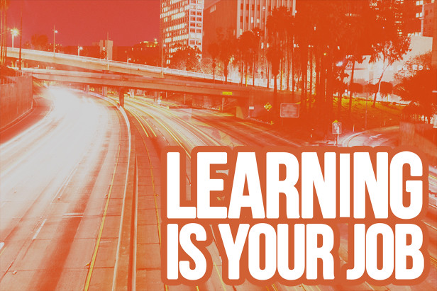 Learning is your job