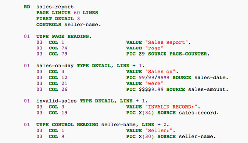 What COBOL looks like