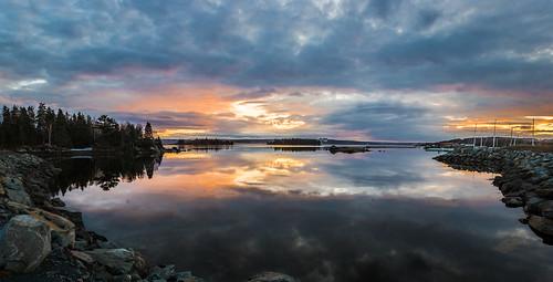 sunset reflection water novascotia ns halifax dartmouth burnside bedfordbasin