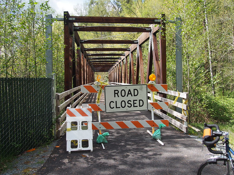 Foothills Trail Closure: This is one bridge down from the collapsed bridge