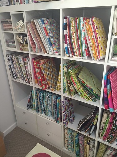 How I store my quilting fabric using comic book boards