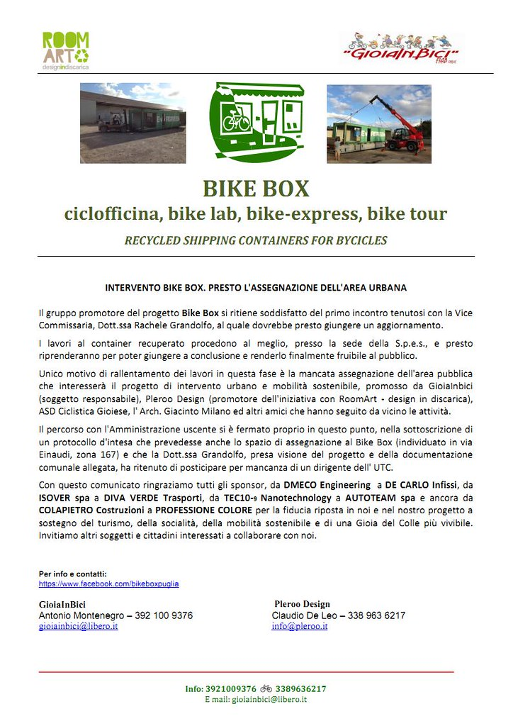 comunicato pleroo bike box 2015