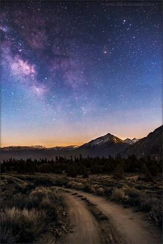 california mountains stars landscape dawn milkyway easternsierras mounttom mttom