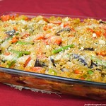 Eggplant and Orzo Baked Pasta