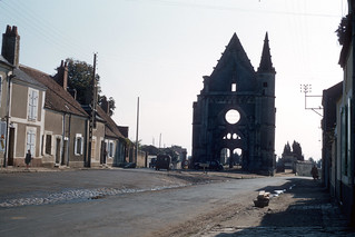 Damaged Church Near Chatres, France - May 1956