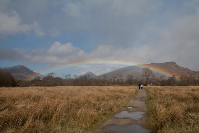 Rainbows at Kilchurn Castle