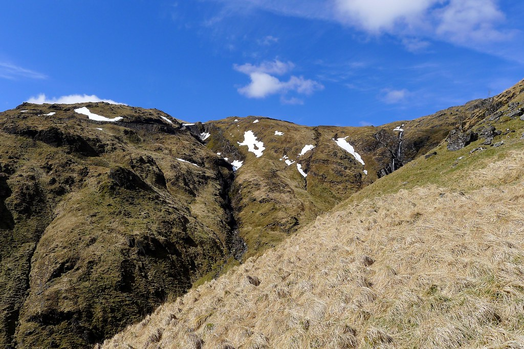 Steep slopes of the Allt na Faing