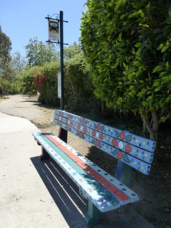 Colorful Bus Bench
