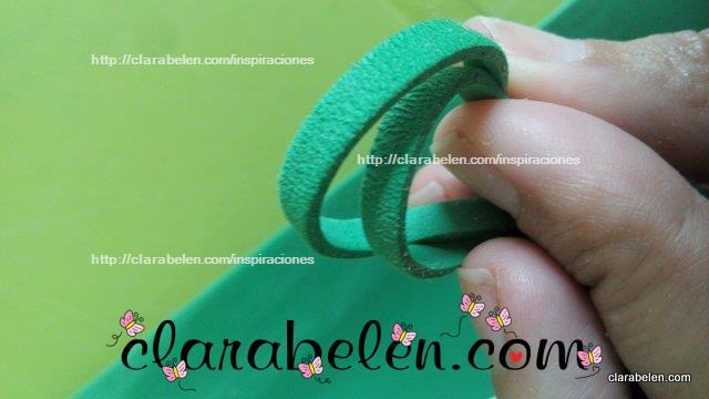 Cómo hacer antelina de foami o goma eva. Cómo hacer cordón de Gamuza
