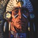 Small photo of Amerindian chief statue figure