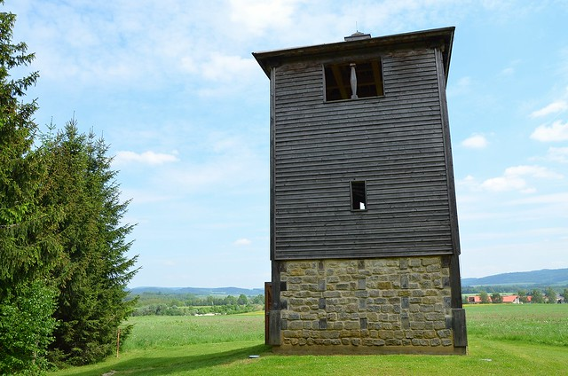 Reconstructed watchtower Wp 12/77 in the Mahdholz, Raetian Limes, Germany