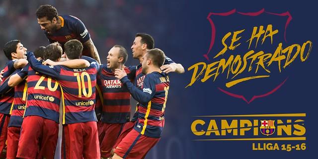 FC Barcelona Campeón de la Liga BBVA