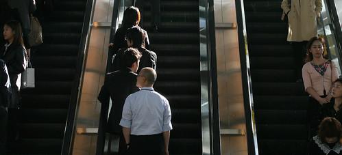 Escadas rolantes em Tóquio