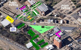Texas Ave Makers Fair map, Ap 11, 2015