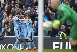 City 3-2 Villa: Match shots