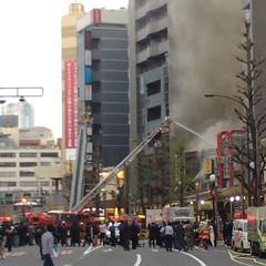 恵比寿、西口、ココイチ、火事! 2015/4/9