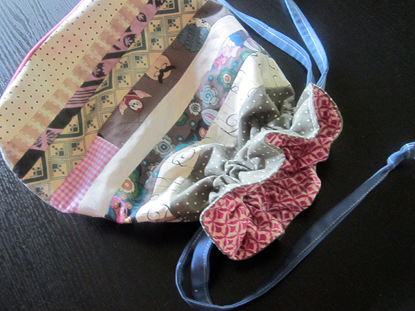 little patchwork bags