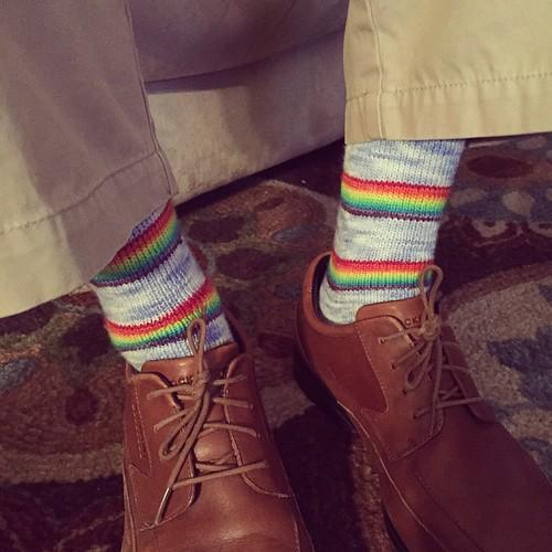 Carlos's Rainbow Socks